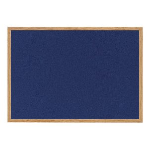 Bi-Office Earth-it Felt Notice Board 1800x1200mm Blue RFB8543233