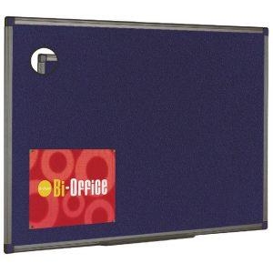 Bi-Office Blue Aluminium Finish Felt Notice Board 900x600mm FB0743186