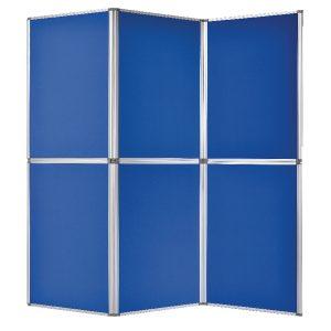 Bi-Office 6 Panel Display Kit Blue DSP340116