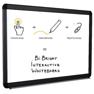 Bi-Office Bi-Bright eRED3 Interactive Whiteboard 78in BI1291805B