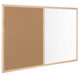 Bi-Office Wood Frame Cork/Drywipe Board 900x600mm MX07001010