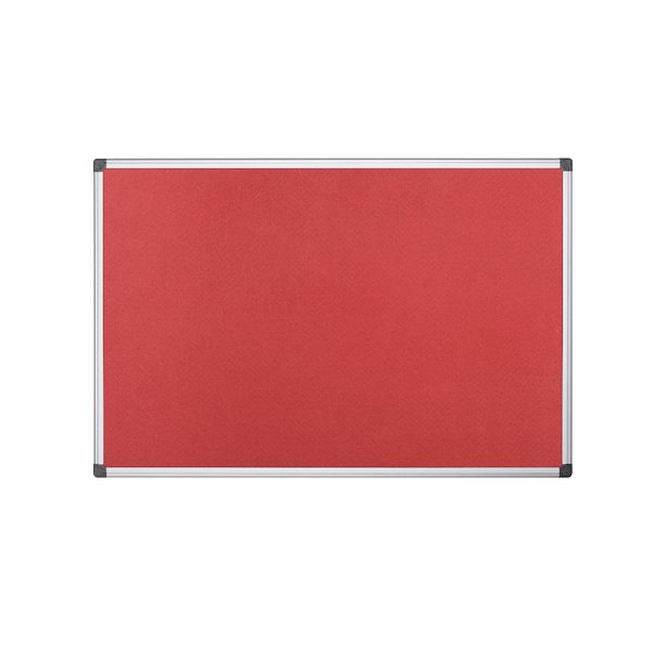 Bi-Office 900x600mm Red Felt Board FA0346170