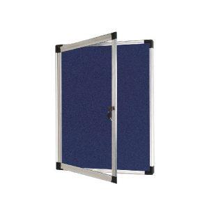 Bi-Office External Display Case 670x934mm Blue Felt Aluminium Frame VT630107760