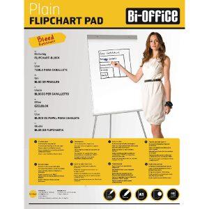 Bi-Office White A1 Plain Flipchart Pads (Pack of 5) FL010101