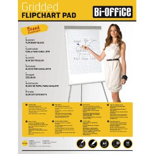 Bi-Office White A1 Gridded Flipchart Pads (Pack of 5) FL012301