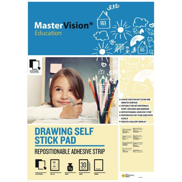 Bi-office Self Stick Mastervision Drawing Pad Plain FL1226407R