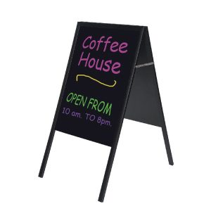 Bi-Office A Frame Chalk Board Black Frame 600x1200mm DKT30404042