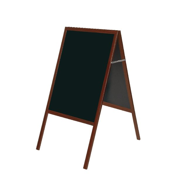 Bi-Office A Frame Chalk Board Cherry Frame 600x1200mm DKT30404052