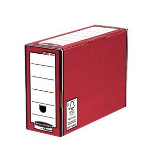 Fellowes Bankers Box Premium Transfer File Red/White (Pack of 10) 0005802 - BB00581