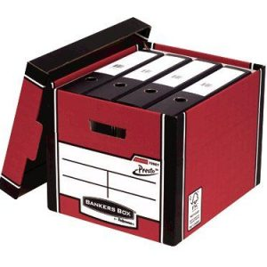 Bankers Box Red Presto Bankers Box Premium Storage Boxes (Pack of 10+2) 7260701 - BB00728
