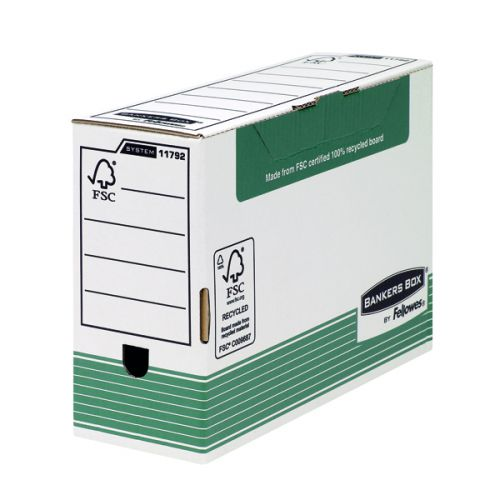 Fellowes Bankers Box Transfer File 120mm FC Green (Pack of 10) 1179201 - BB00792