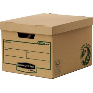 Bankers Box R-Kive Earth Storage Box Brown (Pack of 10) 4470601 - BB00900