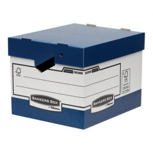 Fellowes Bankers Box Heavy Duty Blue and White Ergo Box (Pack of 10) 0038801 - BB43597