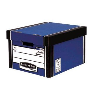 Fellowes Bankers Box Premium Presto Classic Storage Box Blue (Pack of 10+2) 7250601 - BB57826