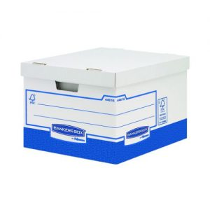 Fellowes Basics Storage Box Heavy Duty Large (Pack of 10) BB72106 - BB72104