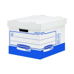 Fellowes Basics Heavy Duty Storage Box Standard (Pack of 10) BB72105 - BB72105