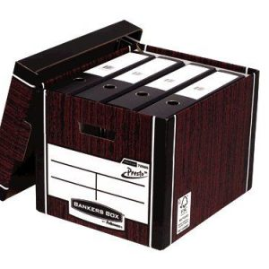 Bankers Box Woodgrain Tall Premium Storage Box (Pack of 10) 7260503 - BB725
