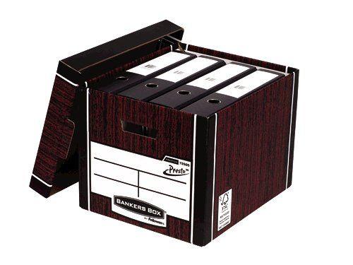 Bankers Box Woodgrain Tall Premium Storage Box (Pack of 10) 7260503 - BB725