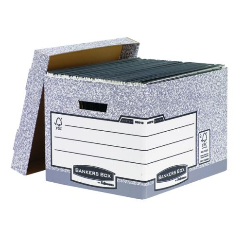 Bankers Box Storage Box Grey Standard (Pack of 10) 00810-FF - BB88537