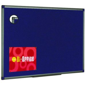 Bi-Office Felt Noticeboard 600x450mm Blue FB0443186 - BQ04186