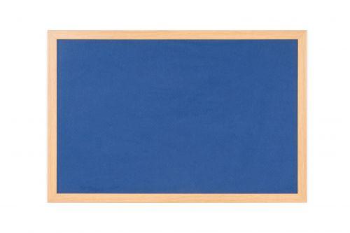 Bi-Office Earth Felt Notice Board 900x600mm Blue RFB0743233 - BQ04348