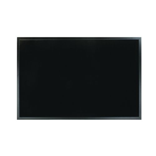 Bi-Office Softouch Surface Noticeboard 900x600mm Black FB0736169 - BQ04361