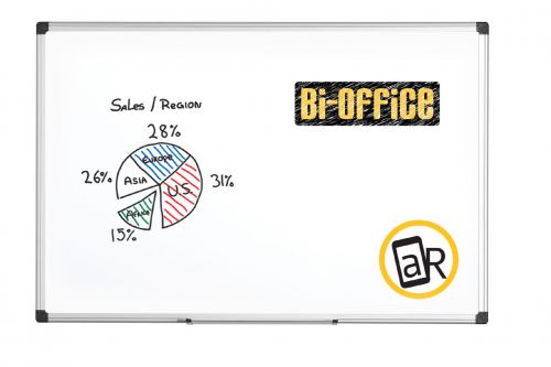 Bi-Office Aluminium Trim Drywipe Board 2400x1200mm MB0312170 - BQ11217