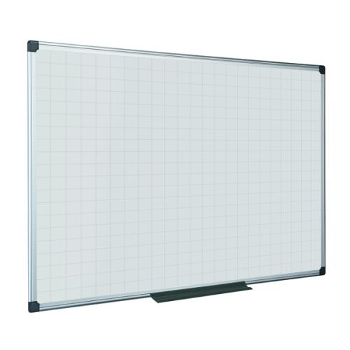 Bi-Office Maya Magnetic Whiteboard Gridded 900x600mm MA0347170 - BQ11377