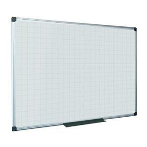 Bi-Office Maya Magnetic Whiteboard Gridded 600x450mm MA0247170 - BQ11477