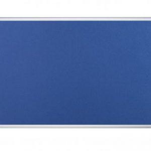 Bi-Office Aluminium Trim Felt Notice Board 900x600mm Blue FA0343170 - BQ35034