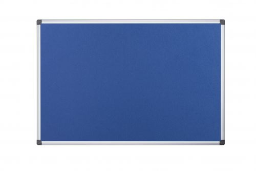 Bi-Office Aluminium Trim Felt Notice Board 900x600mm Blue FA0343170 - BQ35034