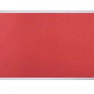 Bi-Office Aluminium Trim Felt Noticeboard 1200x900mm Red FA0546170 - BQ35546