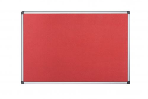 Bi-Office Aluminium Trim Felt Noticeboard 1200x900mm Red FA0546170 - BQ35546