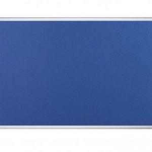 Bi-Office Aluminium Trim Felt Noticeboard 1800x1200mm Blue FA2743170 - BQ35743