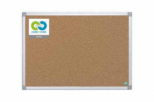 Bi-Office Earth Cork Noticeboard 900x600mm CA031790 - BQ42039