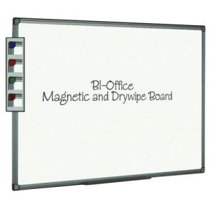Bi-Office Aluminium Finish Magnetic Whiteboard 600x450mm MB0406186 - BQ46061