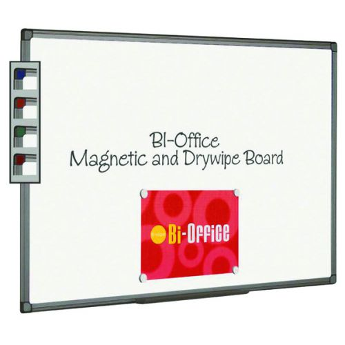 Bi-Office Aluminium Finish Magnetic Whiteboard 1200x900mm MB1406186 - BQ46418