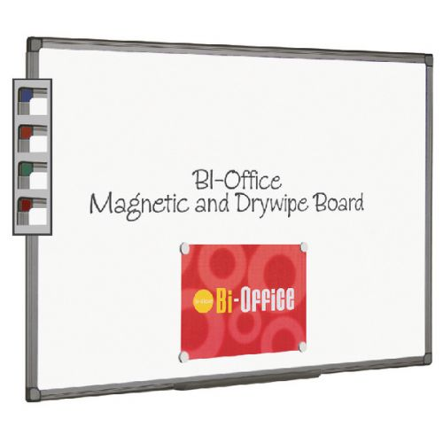 Bi-Office Aluminium Finish Magnetic Whiteboard 900x600mm MB0706186 - BQ46618