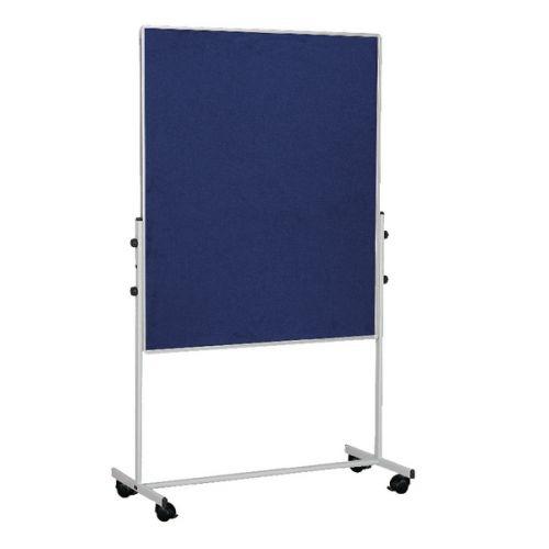 Bi-Office Mobile Felt Board 1500x1200mm Blue EA8327075 - BQ50938