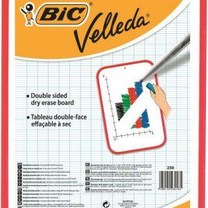 Bic Velleda Drywipe Board Red 300 x 440mm 812105 - CN230