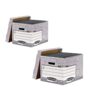 Bankers Standard Storage Box Grey (Pack of 10) BB810537 BOGOF - BB810537