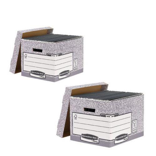 Bankers Standard Storage Box Grey (Pack of 10) BB810537 BOGOF - BB810537