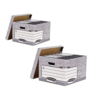 Bankers Large Storage Box Grey (Pack of 10) BB810538 BOGOF - BB810538