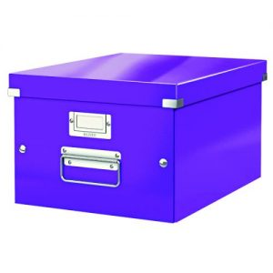 Leitz WOW Click and Store Box Medium Purple 60440062 - LZ10380