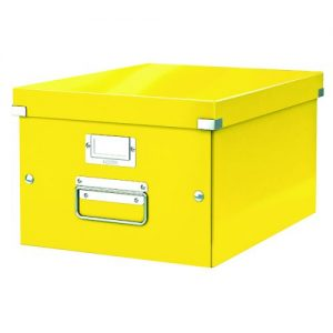 Leitz WOW Click and Store Box Medium Yellow 60440016 - LZ12238