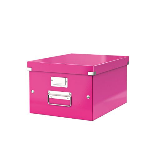 Leitz Click Store Medium Storage Box Pink 60440001 - LZ39812