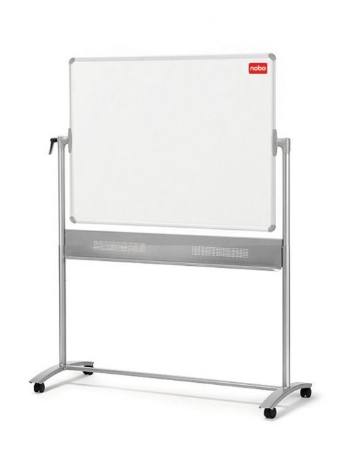 Nobo Mobile Steel Magnetic Horizontal Whiteboard 1200x900mm 1901029 - NB11829