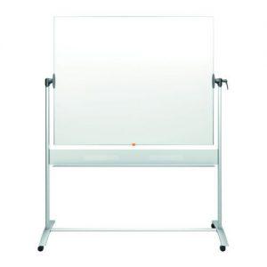 Nobo Mobile Steel Magnetic Horizontal Whiteboard 1500x1200mm 1901031 - NB11830