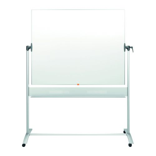 Nobo Mobile Steel Magnetic Horizontal Whiteboard 1500x1200mm 1901031 - NB11830
