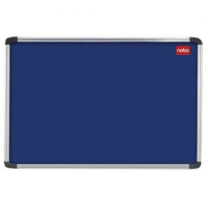 Nobo EuroPlus Blue Noticeboard with Fixings/Frame 2400x1200mm 30230185 - NB30185